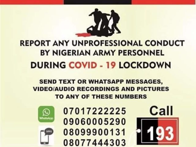 Covid-19: Army vows to discipline erring soldiers, sets up complaint office